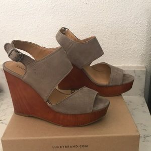 Shoes - Lucky Brand Grey Wedge
